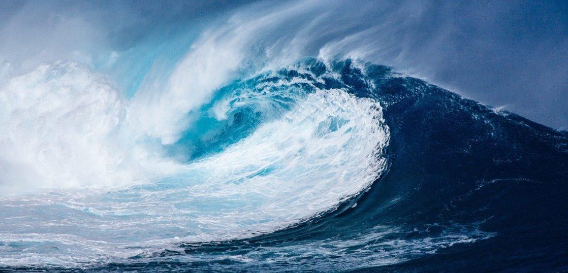 大波が押し寄せている