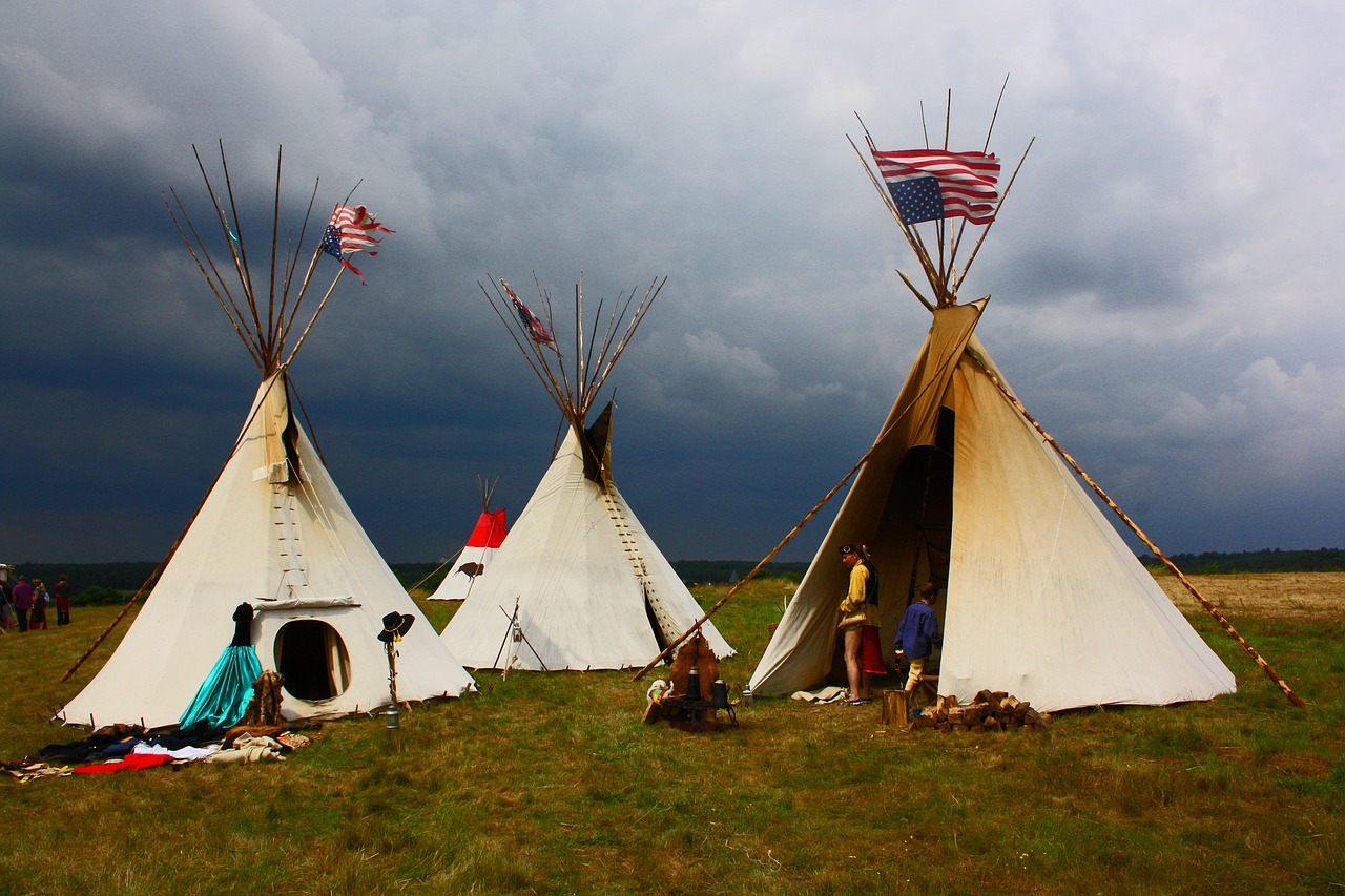 部族のキャンプ